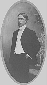 Will Zetterberg, wedding photo, circa 1904